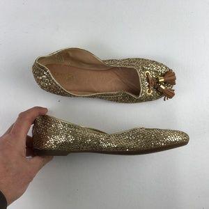 Sperry Gold Ballet Flats D3016568